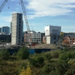 X1 Manchester Waters development in Manchester Flambard Williams construction update 2018 3